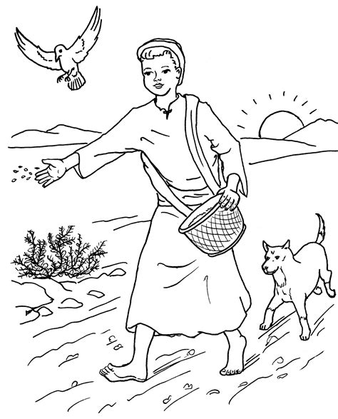 free parable of the rich fool coloring pages