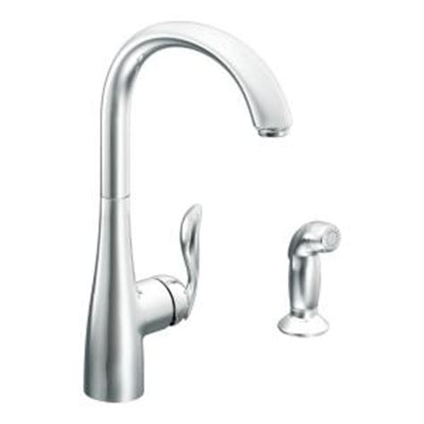 white high arc kitchen faucet home depot at stems cabinets moen arbor high arc single handle standard kitchen faucet