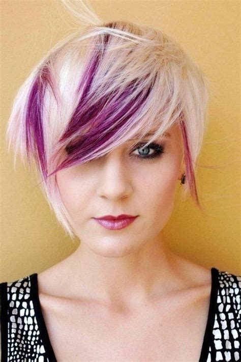 blonde hairstyles with purple streaks 16 latest pixie haircuts for 2015 pretty designs