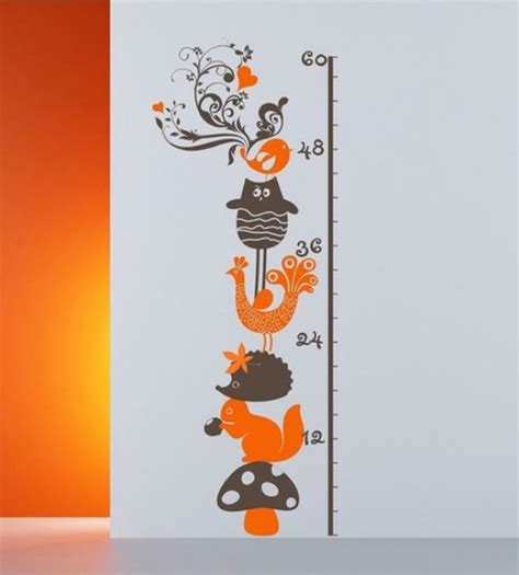 Height Chart Wall Stickers 10 cool wall growth charts for children room kidsomania