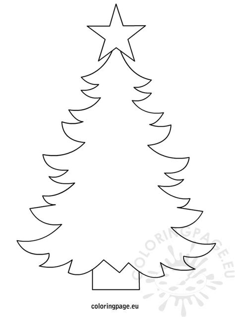 christmas tree outline coloring pages