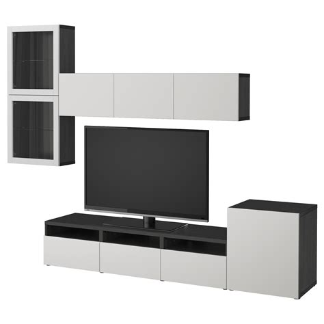 Tv Storage Combination Best 197 Tv Storage Combination Glass Doors Black Brown
