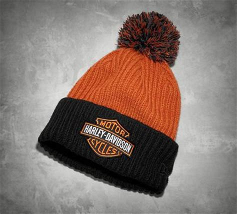 harley davidson knit hat s knit hat with pom cold weather official harley