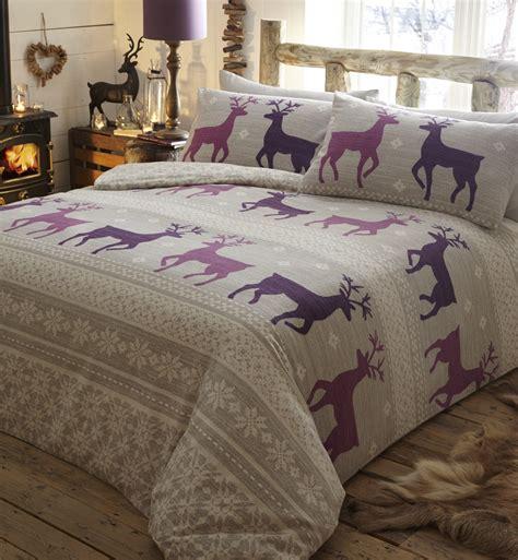 100 Brushed Cotton Flannelette Duvet Quilt Cover Flannel 100 Cotton Cot Bed Duvet Set