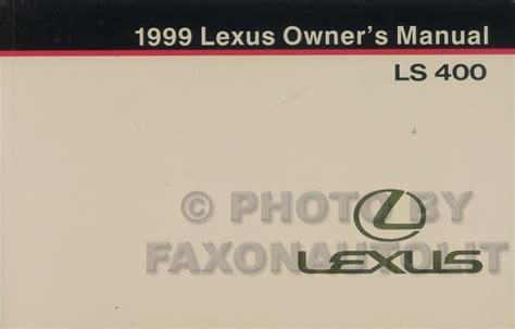 service manual 1999 lexus ls workshop manual free lexus ls400 workshop repair manual 1997 1999 lexus ls 400 owners manual original