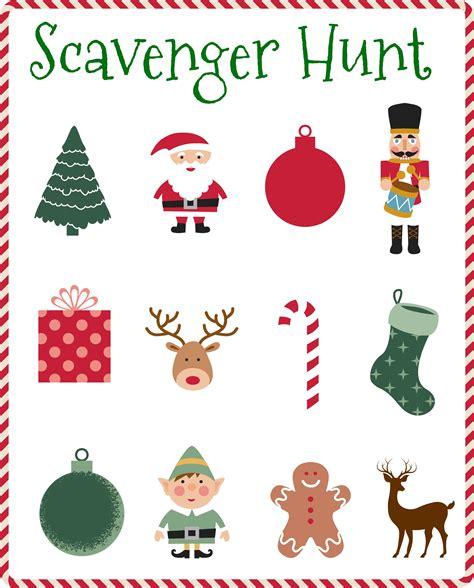 Printable Reindeer Scavenger Hunt   tips for hosting and bringing kids to holiday parties