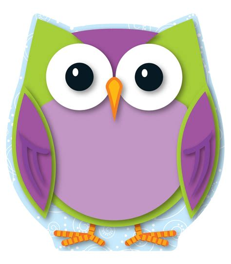 printable owl cut outs 6 best images of colorful owl cutouts printable