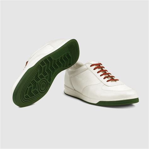 white leather sneaker gucci 1984 leather low top sneaker in white for white