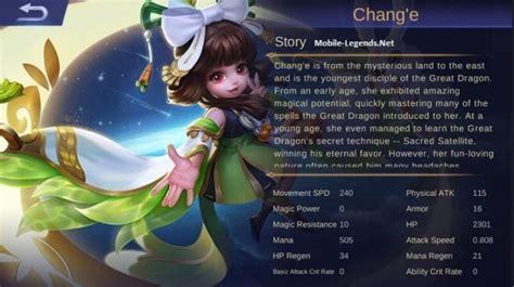 chang e mobile legend chang e features 2018 mobile legends