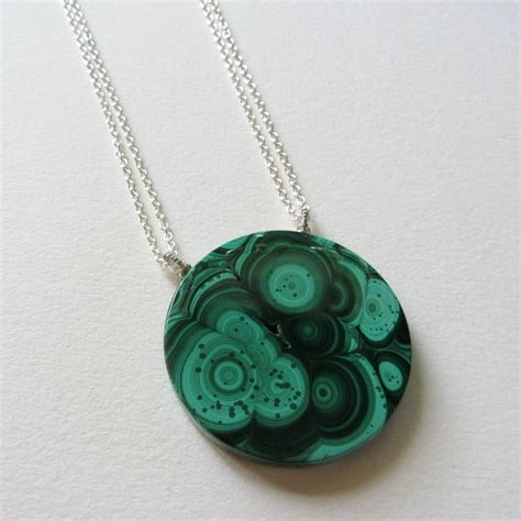 malachite necklace emerald green gemstone