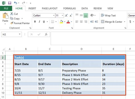 create a table chart office timeline gantt chart excel by visual