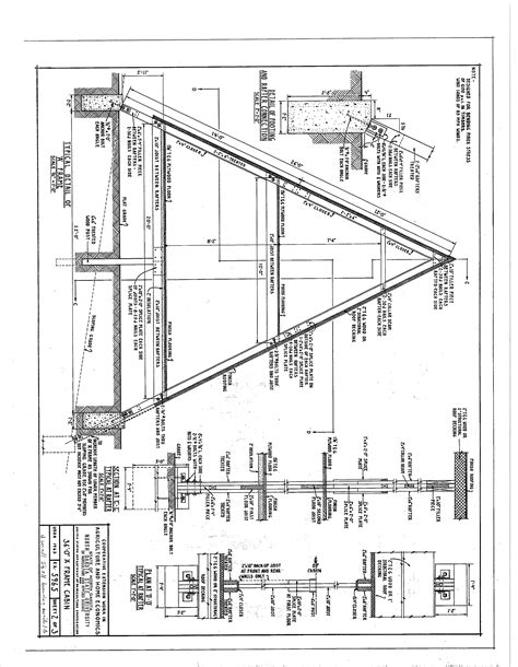 free blue prints free a frame cabin plans blueprints construction documents