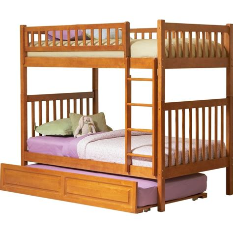 raised twin bed arizona bunk bed twin over twin w a raised trundle in a