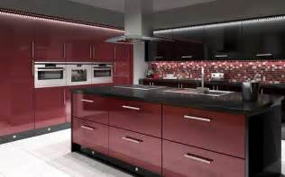 Kitchen Interior Doors by Black And Red Modern Kitchen Interior Amp Exterior Doors