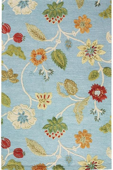 colorful floral rugs the portico rug colorful floral pattern soft wool blend pile durable enough for high