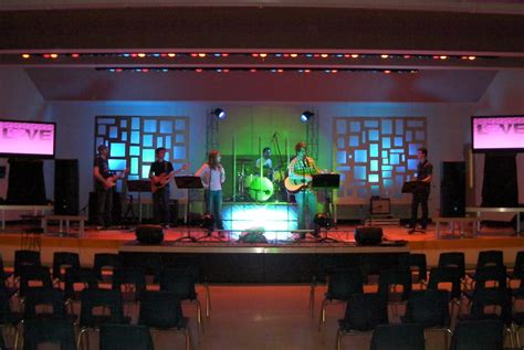 small stage lighting design church stage designs to show off