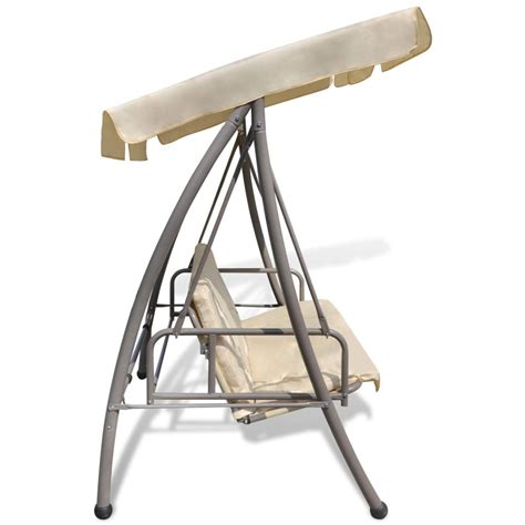 swing chair with canopy outdoor swing chair bed with canopy sand white www
