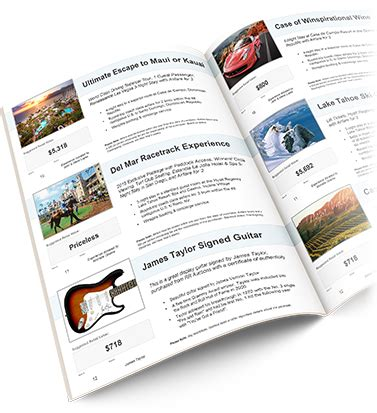 Build Your Own Charity Auction Catalog Template Auction Catalog Template Free