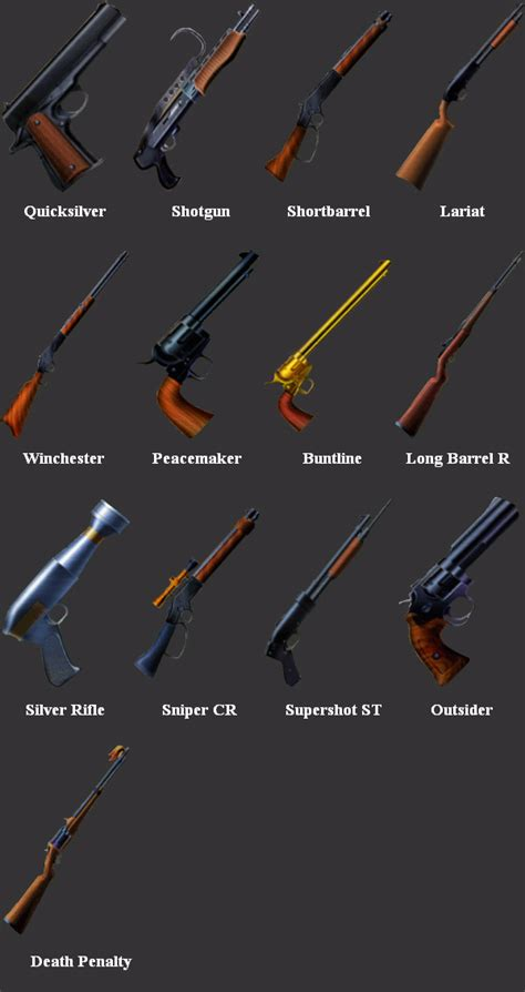 vincent weapons ff7 vincent s weapons by soldier cloud strife on deviantart