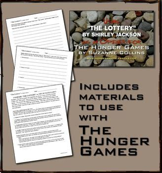 themes in short story the lottery quot the lottery quot by shirley jackson unit with hunger games