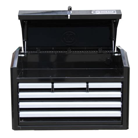 locking drawer slides lowes shop kobalt 17 25 in x 26 7 in 6 drawer ball bearing steel