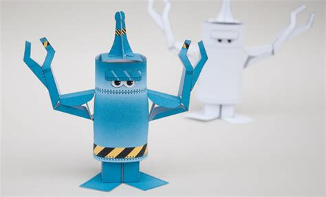 How To Make A Robot Out Of Paper - how to make an animated paper robot
