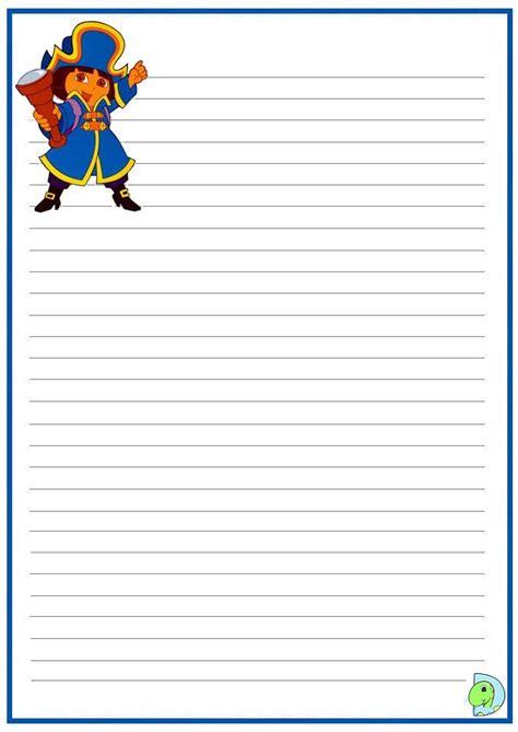 dora the explorer writing paper dinokids org