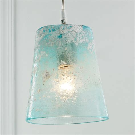 Sea Glass Pendant Lighting Sand Glass Pendant Light Frosted Glass Glass Pendants And Aqua Color
