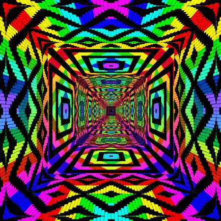 hippie pattern gif rainbow pattern tunnel rainbow colours ت pinterest