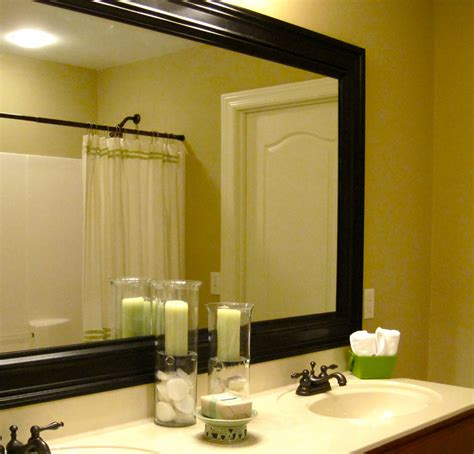 Bathroom Mirror With Frame How To Add A Frame To Your Bathroom Mirror