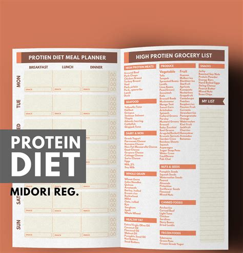 0 protein diet midori meal planner weight loss planner protein diet meal