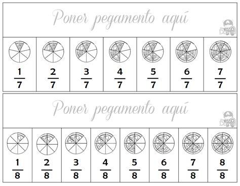 ejercicios de fracciones de cuarto de primaria actividades de fracciones para tercer a sexto grado de