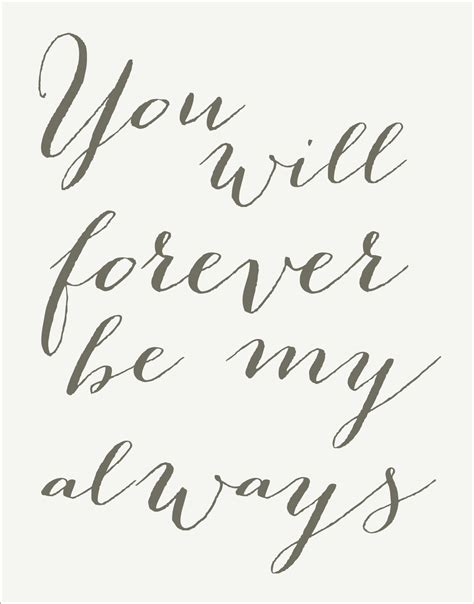 forever my you will forever be my always sign stencil 7 by