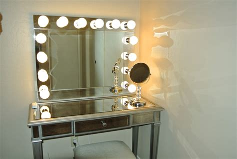 Glass Makeup Vanity Table Makeup Vanities With Lights Decofurnish