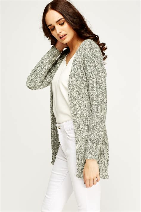 open front knit cardigan speckled knit open front cardigan just 163 5