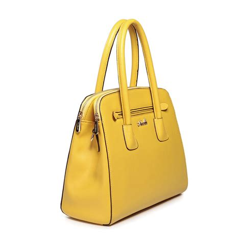 Cowhide Handbags Wholesale high quality cowhide leather wholesale handbags yellow