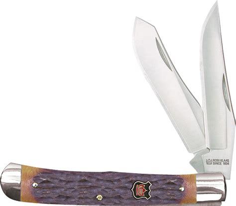klaas knives robert klaas kc6211br modified trapper knife