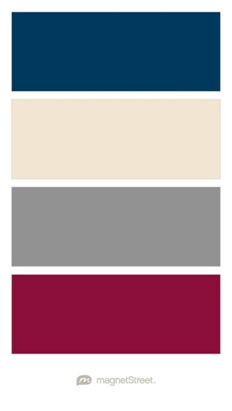 navy chagne classic gray and burgundy wedding color palette custom color palette created