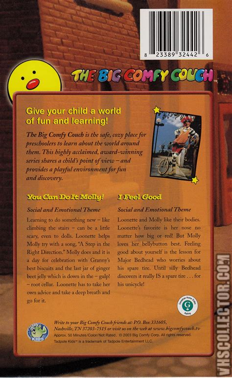 Big Comfy Vhs by The Big Comfy You Can Do It Molly I Feel