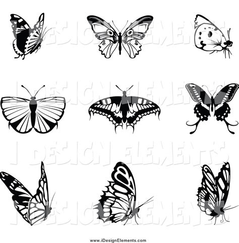 butterfly pattern black and white clipart butterfly border clip art black and white