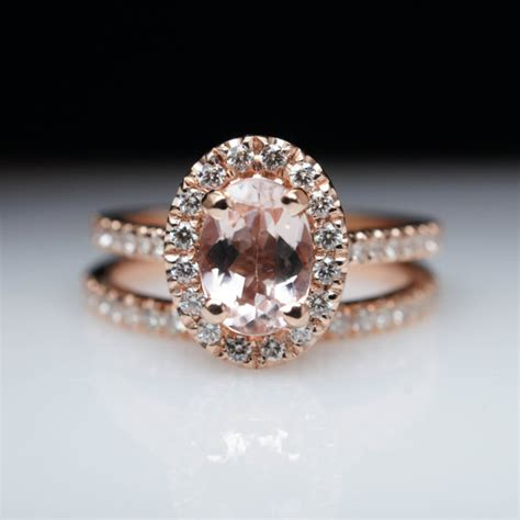 Custom Made Engagement Rings by Oval Morganite Engagement Ring Gold Engagement Ring