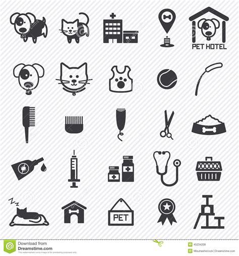 pet care pet care icons set illustration stock vector image 45234208