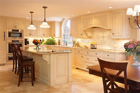 Groton ma custom kitchen cabinets with glazed finish and integrated