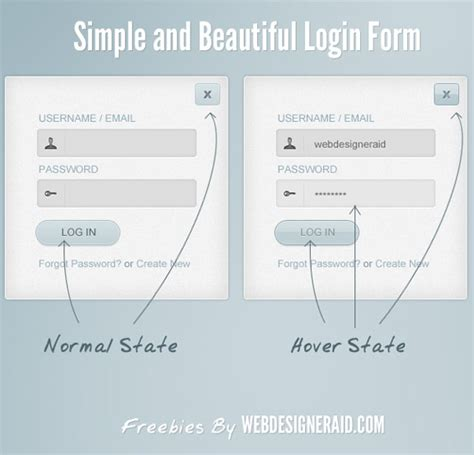 simple login form template 30 free psd login page templates