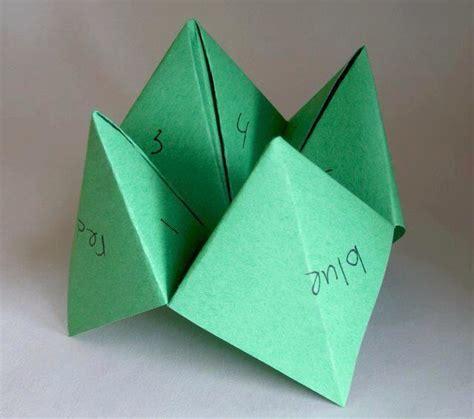 Finger Origami Fortune Teller - paper finger memories paper fingers