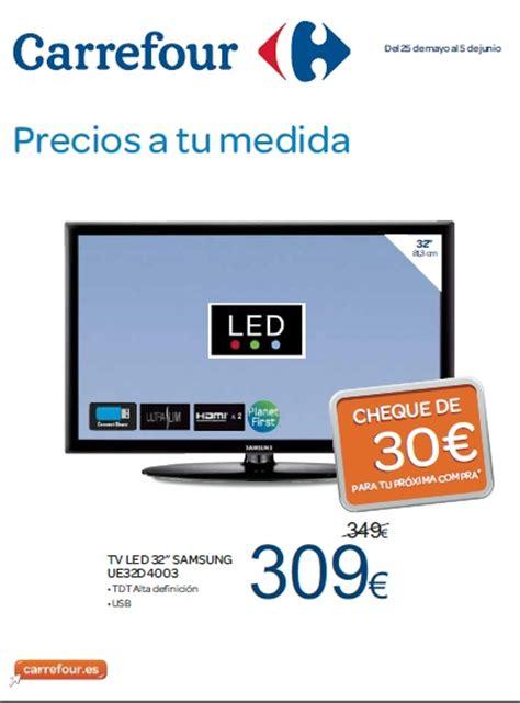 Tv Carrefour carrefour se prepara a la eurocopa con ofertas sobre tv con cheques descuento en su folleto