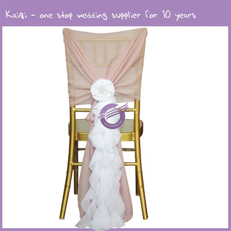 blush pink chair sashes blush pink bridal chiffon ruffled chair white chair