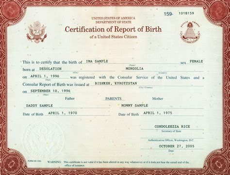 Record Of Birth Birth Certificates Live Birth Certificate
