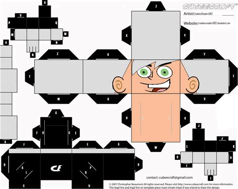 Cubeecraft Papercraft - danny phantom cubeecraft by huntressxtimelady on deviantart