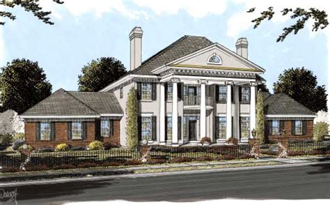greek style house plans greek revival style house plans 4166 square foot home 2 story 4 bedroom and 4